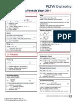 engineering formula sheet 2014
