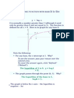 The Logarithmic Function With Base