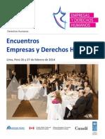 Informe Encuentros Empresas y DDHH