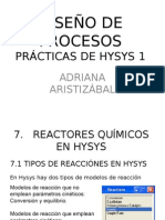 Clases de Hysys 5 Reacciones y Reactores