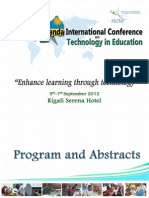 Rwanda International Conference on Technology in Education (RICTE) - Enhance Learning through Technology