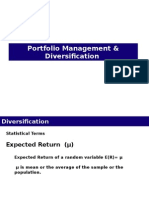 Portfolio Management & Diversification