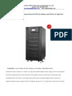 0.9PF PW 380v 3phase HF UPS10-120kva