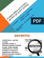 Planificarea Activitatii Unitatii de Audit Intern