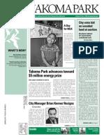 Takoma Park Newsletter - February 2015