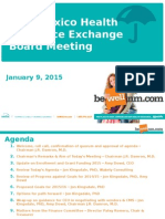NMHIX Board Meeting, Jan 9, 2015