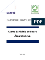 Projeto Executivo Aterro Sanitario de Bauru- Expansao