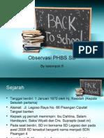 Observasi PHBS SD