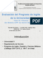 Process Presentation, First Seven Slides