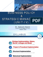 BPSM Unit IV Strategy Implementn 1