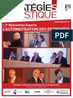STRATEGIE LOGISTIQUE HS 19 - Automatisation Des Entrepôts - Janvier 2013