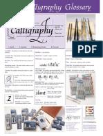 Glossary Caligrafia