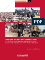 Twenty Years of Transition the Evolution of Urban Planning in Eastern Europe and the Former Soviet Union, 1989-2009