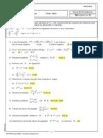 Lista Equação Exponencial 2ªsérie MAT2- 2015