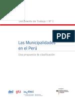 Las Municipalidades en PeruUna Propuesta de Clasificacion