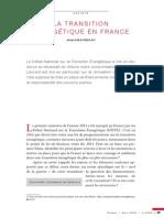 La transition énergétique en France