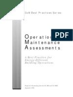 Operation & Maintenance Assessment