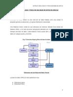 Estructura logica y fisica de una base de datos oracle