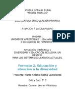 u1 Formato 2 Educacion y Atencion a La Diversidad (1)