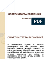 Curs 4 - Oportunitatea Economica