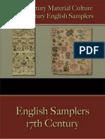 Decorative Arts - English Samplers 17th Century