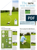 To Days Golfer a New Way to Putt