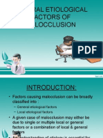 General Etiology of Malocclusion