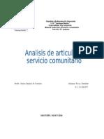 Articulos Del Servico Comunitario