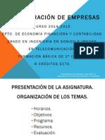 0 Presentacion de La Asignatura 2014-15