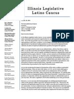 Latino Caucus Letter to Gov. Rauner