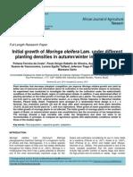 Initial Growth of Moringa Oleifera Under Different Planting Densities Article1422376157_Ferreira Da Costa Et Al