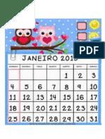 calendário 2015 coruja