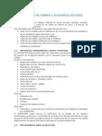 SOLDADURA DE TUBERIA Y ACCESORIOS DE ACERO
