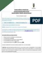 Disposiciones Generales Para Entrega de Documentos
