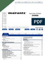 SA8005 Owners Manual in English