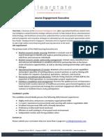 Resource Engagement Executive
