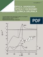 Actividad Óptica, Dispersión Rotatoria Óptica y Dicroísmo Circular en Química Orgánica