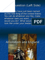 absolutism and ecw - underlined