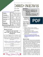Newsletter Vol 5 - 02 February 2015