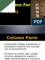 CIV 2101 Formwork Presentation - Column