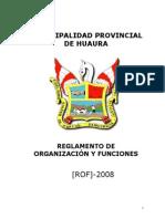 Reglamento_de_Organizacion_y_Funciones - ROF - MUNIPALIDAD HUAURA