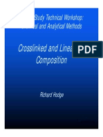 Crosslinked and Linear Gel Composition