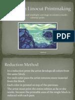 reduction linocut printmaking