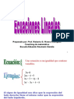 presentacin de ecuaciones lineales