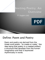intro to poetry