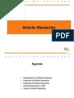 Article Hierarchy