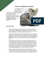 Cómo Hacer Repelente de Gatos