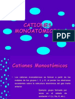CATIONES MONOATÓMICOS