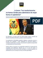 Álvaro Discurso del Vicepresidente del Estado Plurinacional de Bolivia, Álvaro García Linera, que fue leído en la sesión de posesión del Presidente Evo Morales y del mismo Vicepresidente, el 22 de enero 2015.García Linera