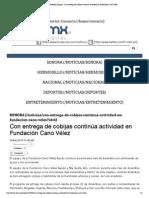 29-12-14 Con entrega de cobijas continúa actividad en Fundación Cano Vélez